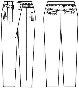 Примеры моделей брюк разработанных на основах рассчитанных в программе Закройщик