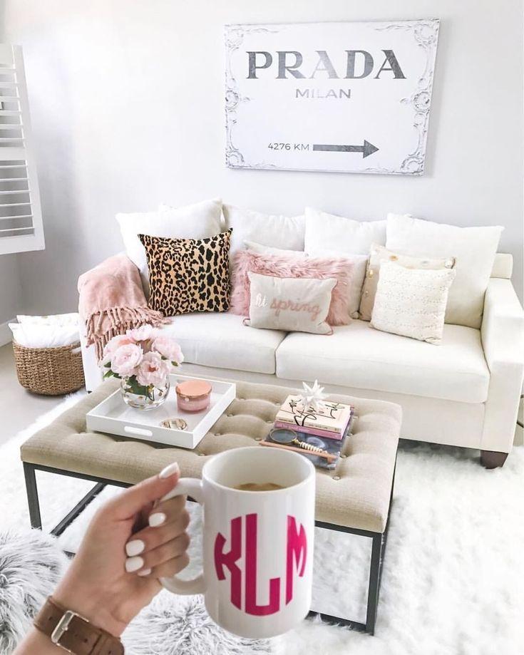 40 Cute Girly Apartment Decor Ideas Zyhomy Girly Apartment Decor Girly Living Room Apartment Decorating Livingroom