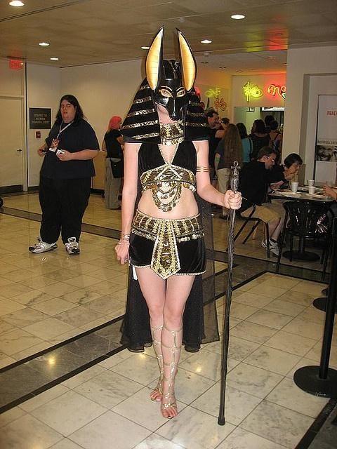 Sexy Anubis Egyptian Costume.