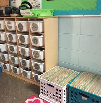 Cubby Labels for a variety of manipulatives in classrooms