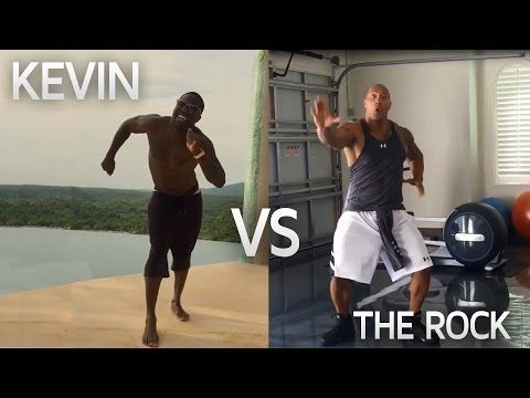 Kevin Hart & The Rock DANCE OFF | Funny! - YouTube