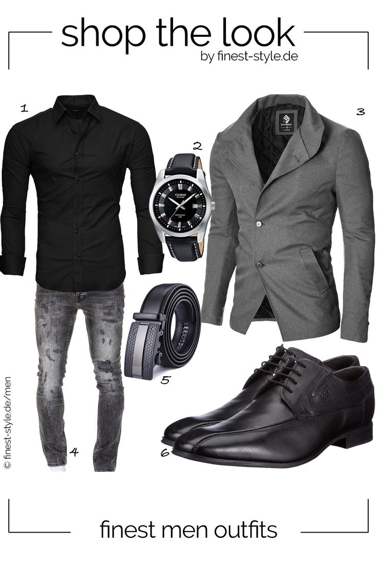 Modernes Herren-Outfit mit Teilen von Casio, Bugatti, Kayhan, Xhtang, MODERNO und Amaci&Sons #clothes #männeroutfit #herrenmode #menstyle