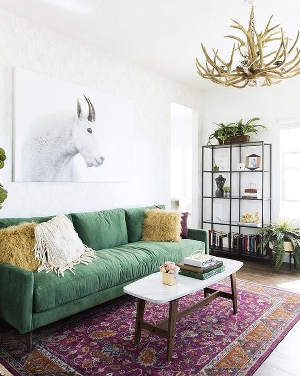 Seriously Stylish Rooms That Rock The Color Green Green Sofa Living Room Green Sofa Living Living Room Decor Apartment Green sofa living room decor
