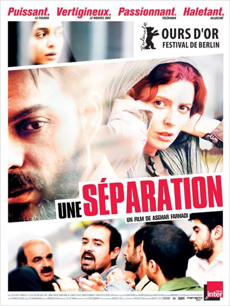 """Une Séparation . 2011 * * * *  """"Jodaeiye Nader az Simin"""" (original title) A married couple are faced with a difficult decision - to improve the life of their child by moving to another country or to stay in Iran and look after a deteriorating parent who has Alzheimer's disease."""