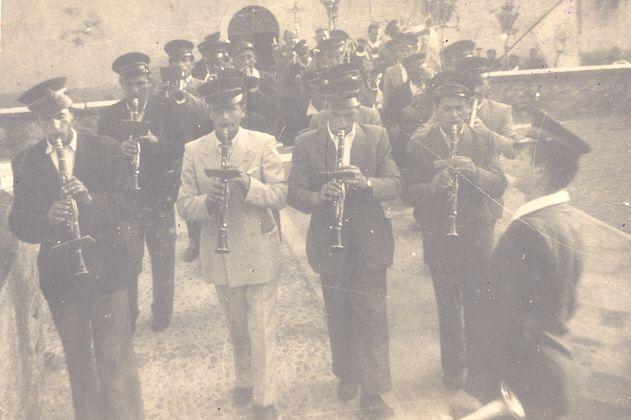 Anno 1950: fotografia della banda musicale - http://www.gussagonews.it/banda-musicale-gussago-anno-1950/