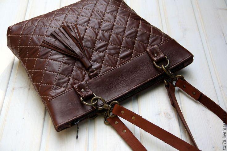 Купить Занимательная геометрия. - коричневый, однотонный, сумка ручной работы…