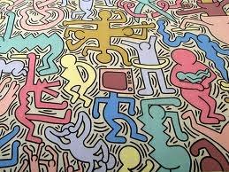 Tuttomondo.  Obra realizada por Keith Haring en el año 1989 y que pertenece al estilo del graffiti.  Destaca los perfiles negros marcados y las figuras simplificadas y rebosantes de dinamismo.