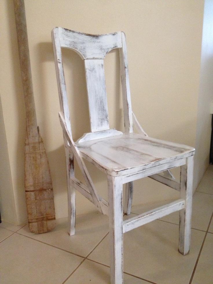 Vintage White Chair