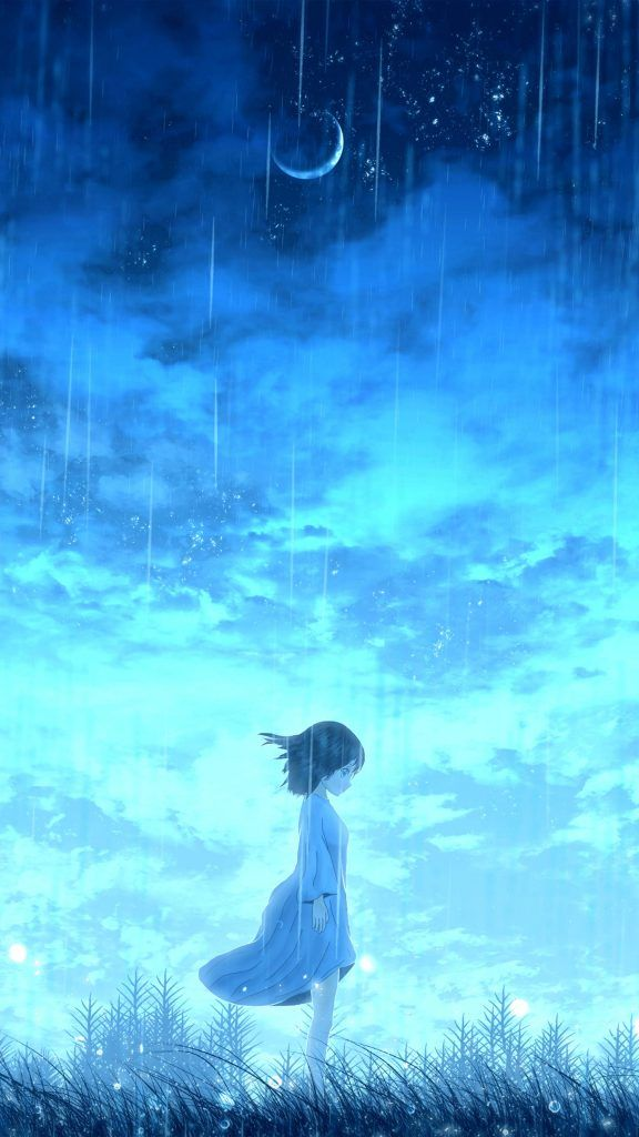 Anime Lonely Night Girl In 2020 Anime Scenery Wallpaper Anime Scenery Cool Anime Wallpapers