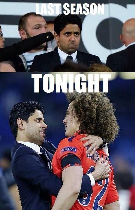 David Luiz w objęciach właściciela PSG po meczu z Chelsea • Reakcja najważniejszego człowieka w Paris Saint Germain • Wejdź i zobacz >> #psg #luiz #football #soccer #sports #pilkanozna #funny