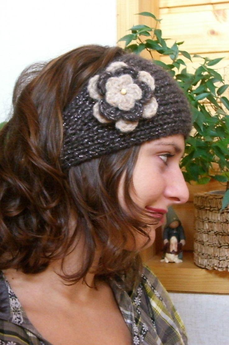 Tuto de fabrication bandeau tricot et fleur au crochet : Kits, tutoriels bijoux par lailou