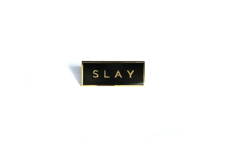 """Slay"" Lapel Pin / Heroes For Hire"