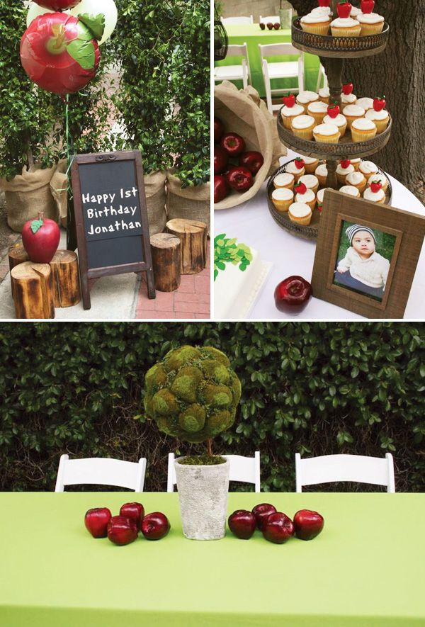 Rustic Giving Tree Themed First Birthday Party