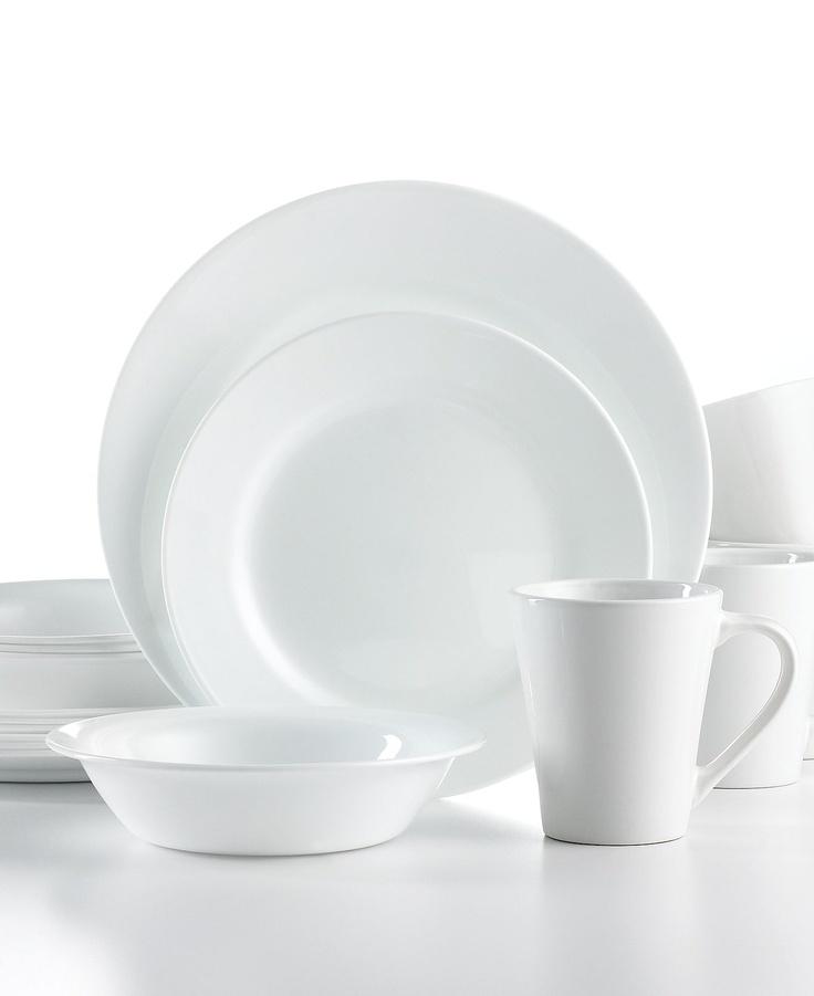 Corelle Shimmering White Round 16 Pc Set Service For 4  sc 1 st  Castrophotos & Corelle Round Dinnerware Sets - Castrophotos