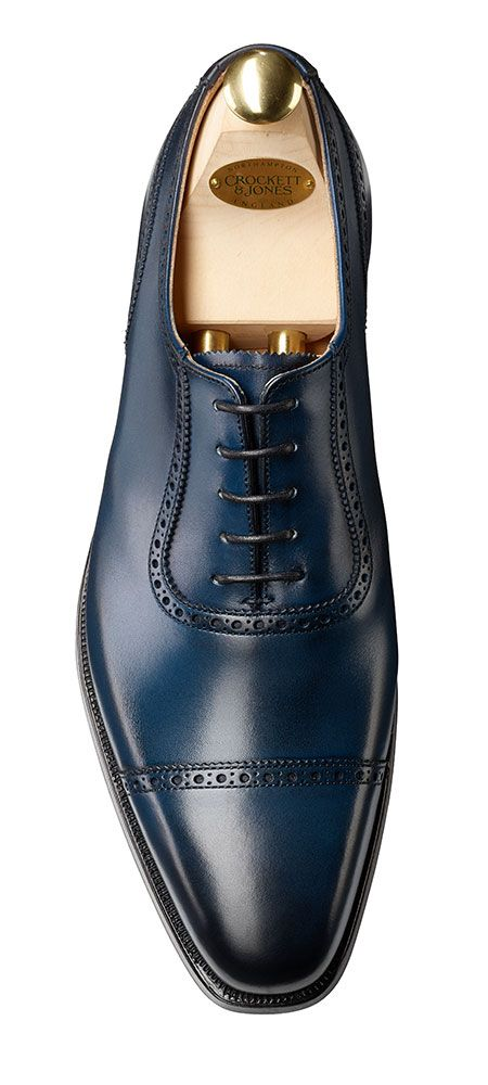 The Oxford Shoe; Deriving from the 1800's Oxonian Boot, this classic shoe is best worn for smart occasions and is a staple item in any businessman's wardrobe. Shoe from Crockett Jones. www.thewhippedcat.com