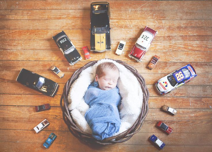 Cars Newborn Photo, Baby boy with Cars, Car Baby Photo, Image by Tigerlily Photography of Raleigh/Cary, NC
