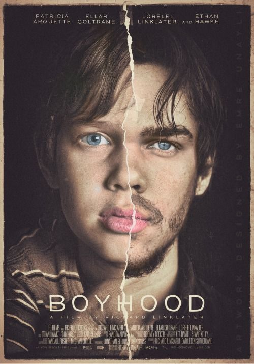 Emre Unayli's poster featuring Ellar Coltrane, for Richard Linklater's 12-years-in-the-making film, Boyhood.