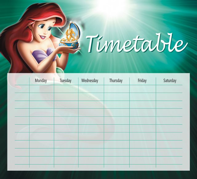 The Little Mermaid Timetables 04