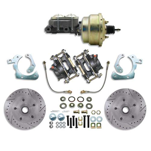 New #CBK6970LX - Complete Front Stock Spindle High performance Disc Brake Kit with Booster. Available for: 1969-70 Chevy Full size, Bel air, Impala, Biscayne, Caprice car.