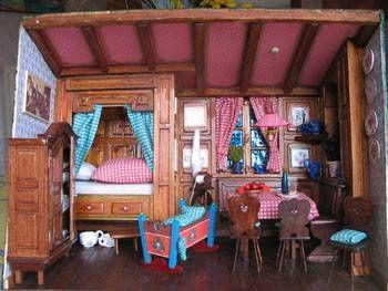 Stub Alsacienne - maison de poupée - vitrines miniatures