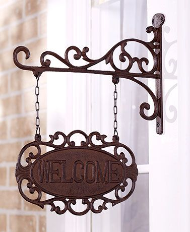 Cast Iron Welcome Signs