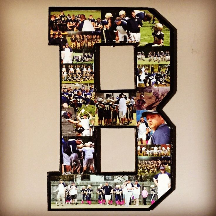 Letter photo collage. Coach gift from team team by MatchPointGifts