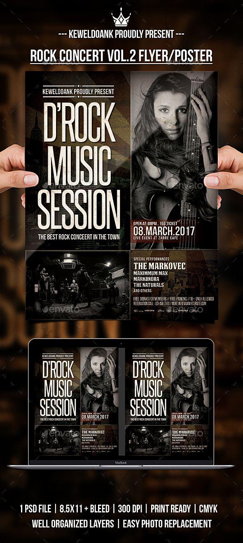 Rock Concert Vol.2 Flyer / Poster