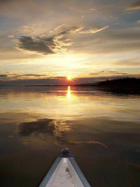 Paddling the Mackenzie River