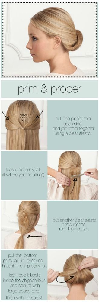 RECOGIDO ELEGANTE DE MOÑO CON ESTILO CASUAL - FOTO-TUTORIAL : Peinados y cortes de cabello
