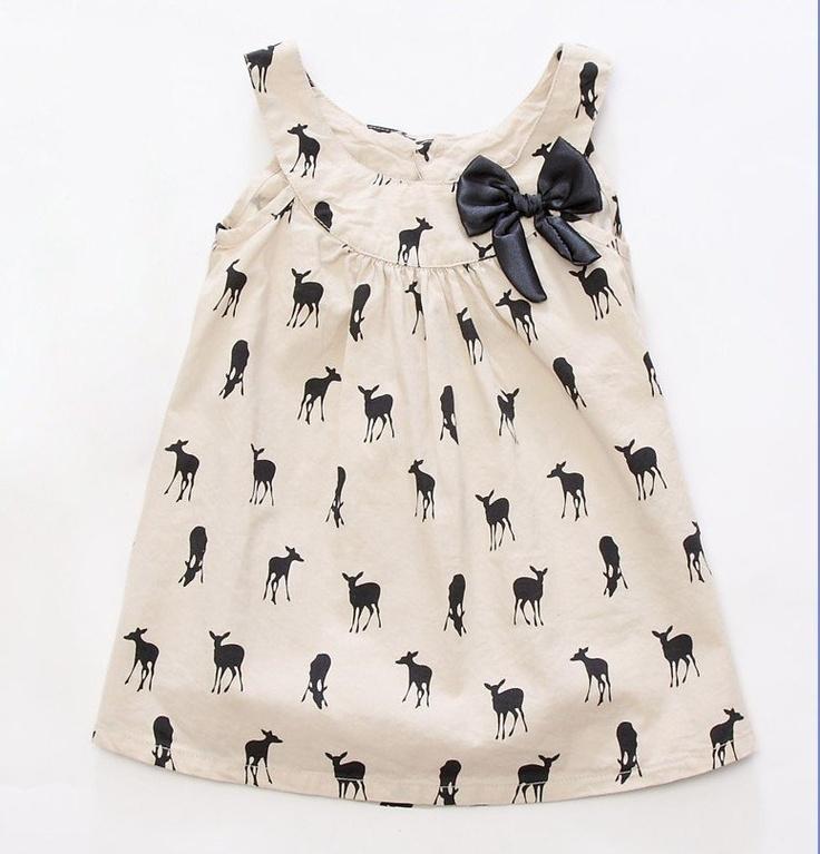 Girls Deer Print Tunic Dress by Lil Haus of Hammer