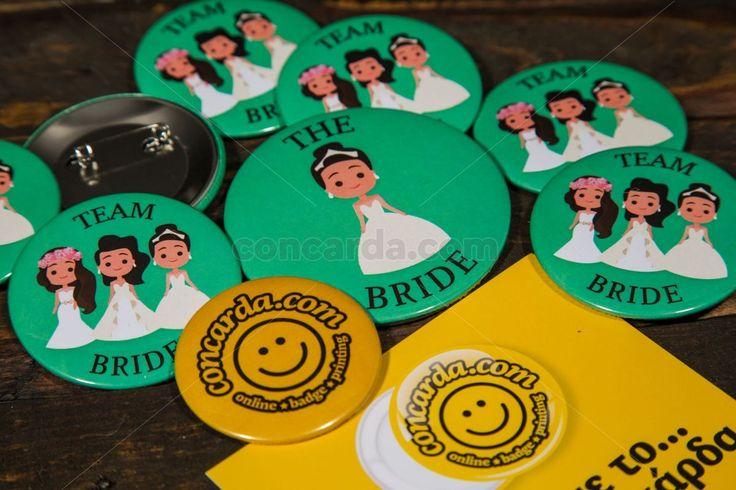 Κονκάρδες Bride and Team Bride μόνο στο concarda.com
