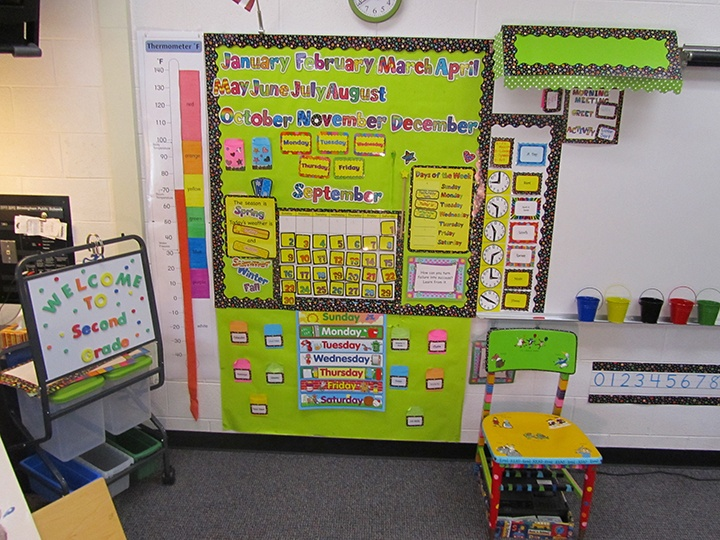 Classroom Design Patterns ~ Be inspired by this poppin patterns themed classroom