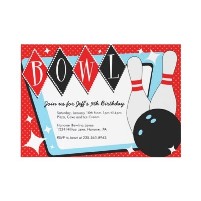 53 best Bowling Invitation Ideas images on Pinterest Bowling - bowling invitation