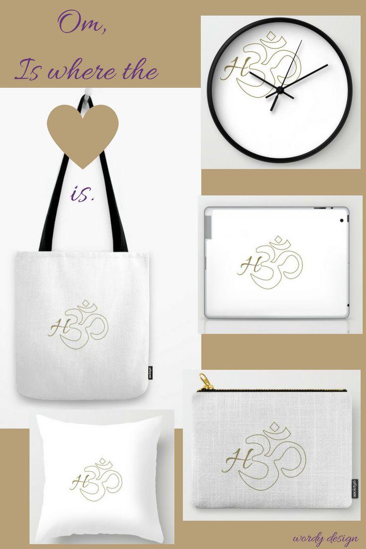 #Om #clocks #totebag #fashion #serenity #home #laptopcase #ipad #homedecor #yoga #soceity6 #myart