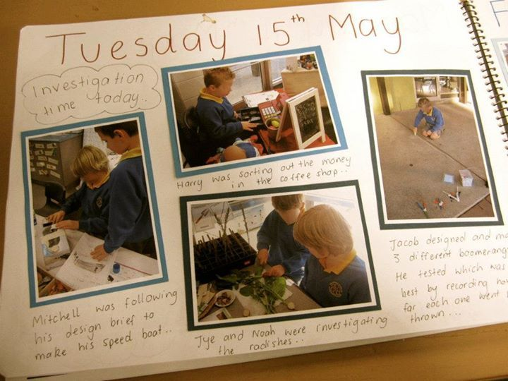 "Daily diary from Hillcrest Primary School - Devonport, image shared by Walker Learning Approach: Personalised Learning ("",)"