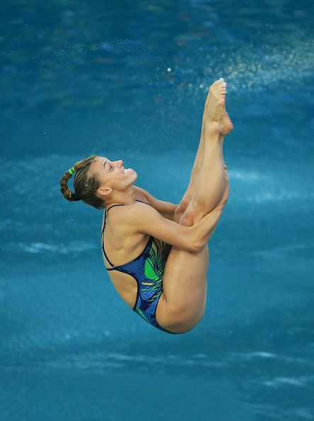 Tania Cagnotto of Italy wins Bronze in the Women's 3m Springboard Final on Day 9…