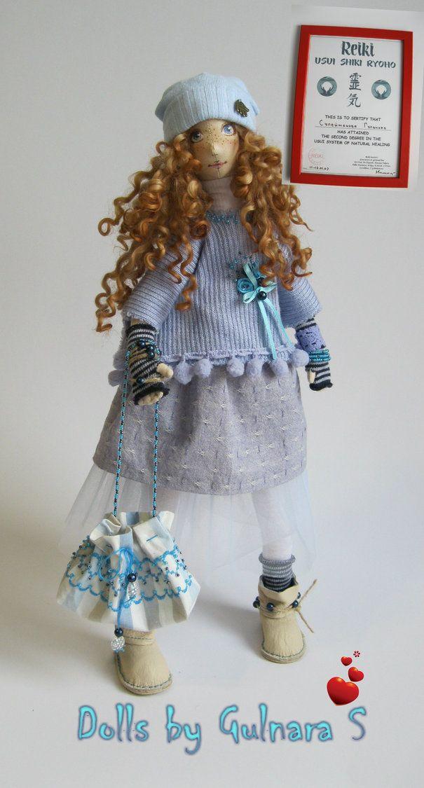 Ручная работа Текстильная кукла, авторская работа