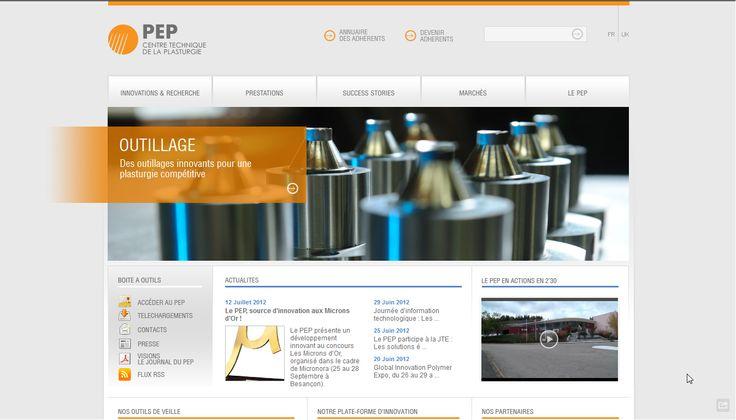 Site web du PEP, centre technique de la plasturgie - 2011