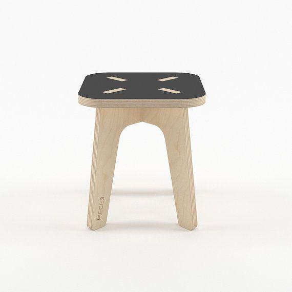 Negro taburete de madera taburete de madera muebles de los
