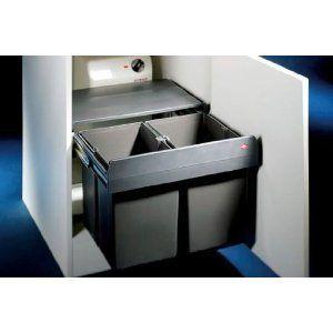 Wesco Einbaueimer Double Master Abfallbehälter/Mülleimer Vollauszug