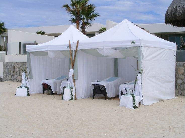 Massage on the beach in Los Cabos! #mobilespa #luxury #massage