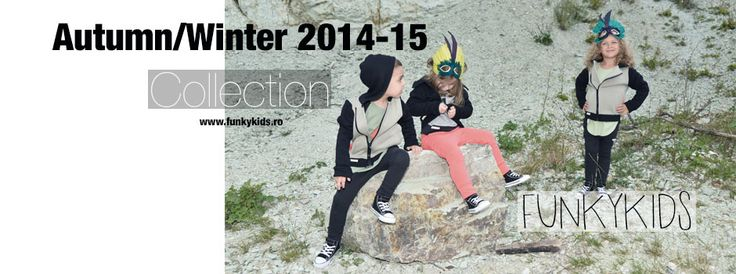 Autum/Winter 2014-14 Collection #Funkykids. #Children #Clothing, #Pants, #Dress, #Jacket , #Red , #Pink, #Black. #Cool #funky #kids clothes. #New #collection. Unisex items for kids. #Organiccotton #cotton . Shop online www.funkykids.ro For stockists: office@funkykids.ro