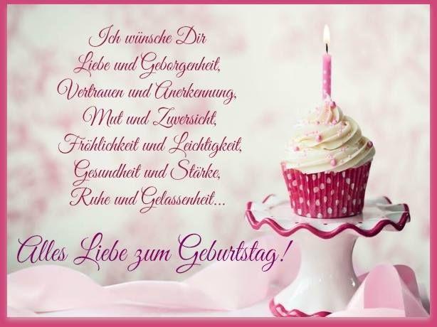 Ich wünsche Dir Liebe und Geborgenheit, Vertrauen und Anerkennung - ツ GeburtstagsBilder & Geburtstagsgrüße ツ