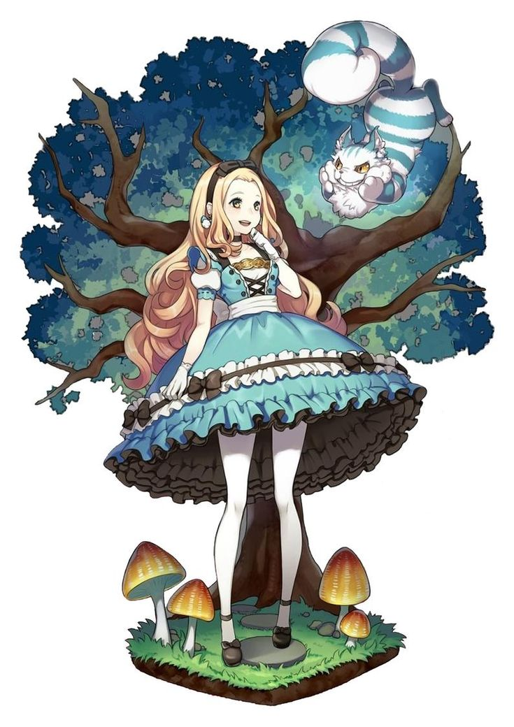 Japanese Anime Manga A4 poster Alice in Wonderland and