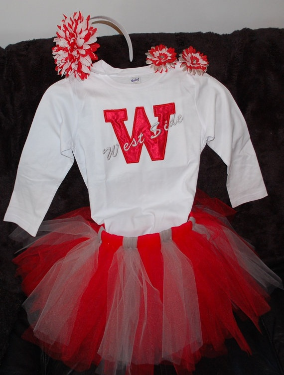Custom Made  Team Cheerleader Tutu Outfit by acleader on Etsy, $45.00