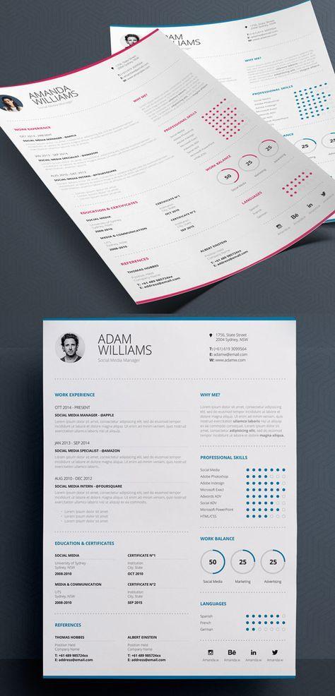 1232 best CREATIVE RESUME, BUSINESS CARDS, SOCIAL MEDIA, MARKETING - contemporary resume