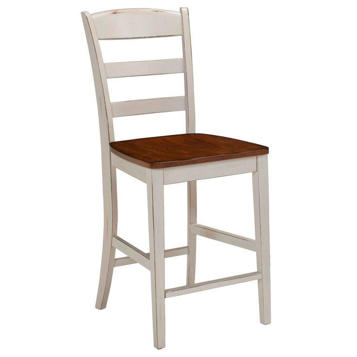 Create A Clic Rustic Look In Any Room With This Antiqued White Bar Stool The