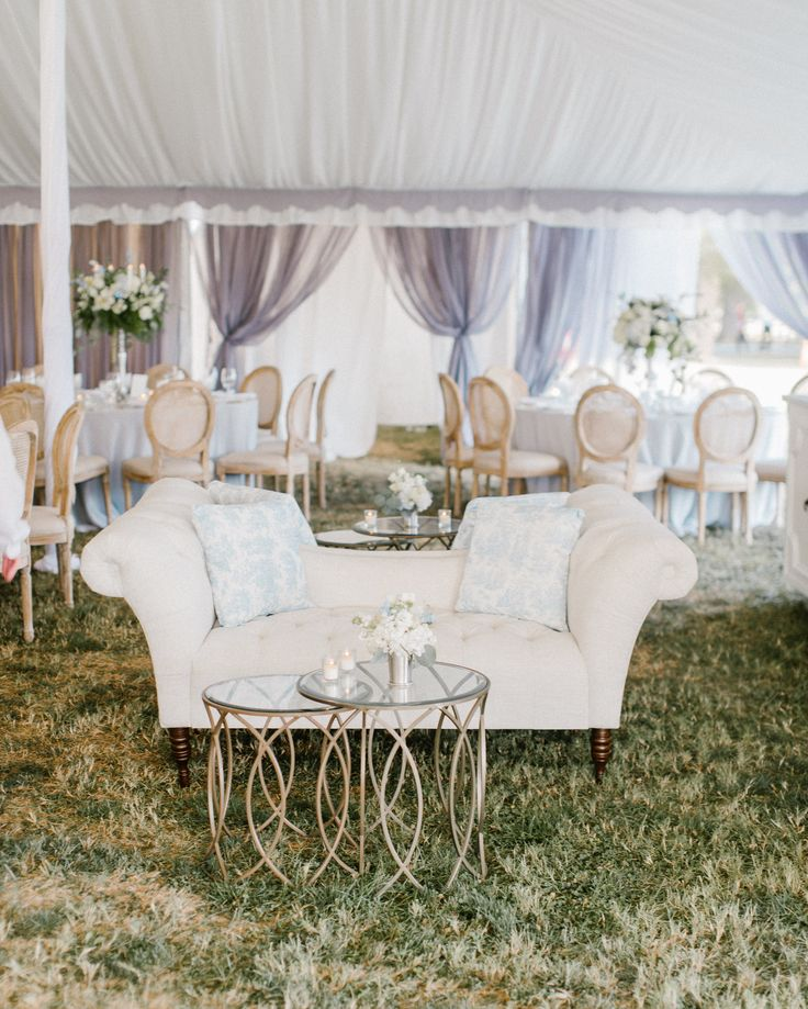 Tented Wedding Lounge Inspiration On The Eastern Shore In