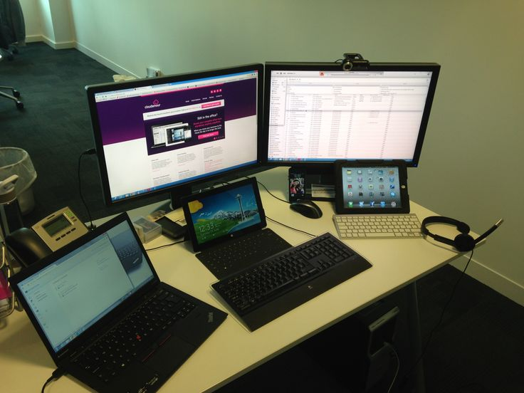 Apparently the average number of devices per user is now 2.5. Not at Cloudamour!! Check out this picture to see how we roll! #cloud #wpc #gadget