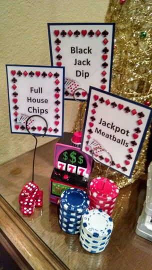Done by yours truly. Casino Party Favors